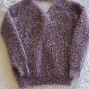 Light purple fluffy sweater!